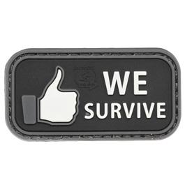JTG 3D Rubber Patch mit Klettfläche We Survive swat
