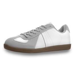 BW Bekleidung - Mil-Tec Hallensportschuh BW Style grau/weiß
