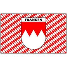 Flaggen - Flagge Franken mit Rauten und Schriftzug