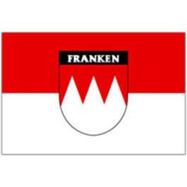 Flaggen - Flagge Franken mit Schriftzug