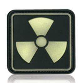 3D Rubber Patch Radioactive 1 Glow nachleuchtend