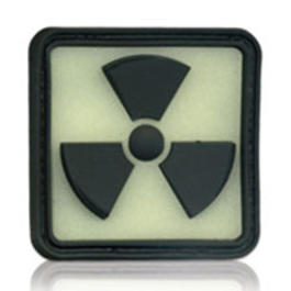 3D Rubber Patch Radioactive 2 Glow nachleuchtend