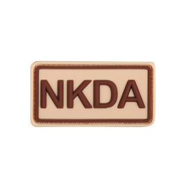 3D Rubber Patch NKDA khaki braun