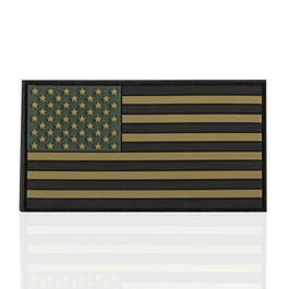 3D Rubber Patch Flagge USA oliv