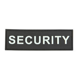 3D Rubber Patch Security schwarz wei�