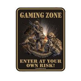 Metallschild Gaming Zone