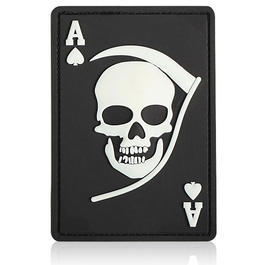 3D Rubber Patch Death Ace schwarz wei�