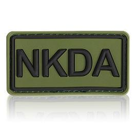 3D Rubber Patch NKDA oliv schwarz