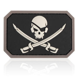 3D Rubber Patch Mil-Spec Monkey Pirate Skull SWAT