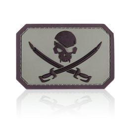 3D Rubber Patch Mil-Spec Monkey Pirate Skull acu dark