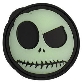 3D Rubber Patch Big Nightmare Smiley schwarz glow nachleuchtend