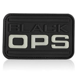 3D Rubber Patch Black OPS schwarz glow nachleuchtend