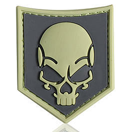 3D Rubber Patch SOF Skull ACU
