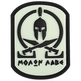 3D Rubber Patch Molon Labe Spartan glow nachleuchtend
