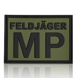 3D Rubber Patch Feldjäger MP schwarz oliv