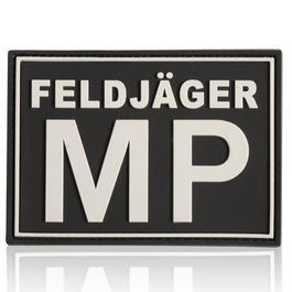 3D Rubber Patch Feldj�ger MP schwarz wei�