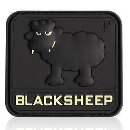 3D Rubber Patch Black Sheep schwarz glow nachleuchtend