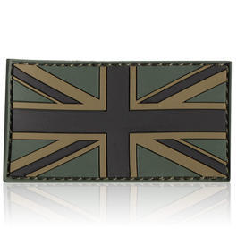 3D Rubber Patch Flagge UK oliv England