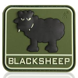 3D Rubber Patch Black Sheep forest