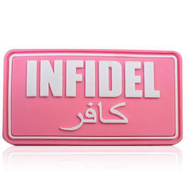 3D Rubber Patch Infidel pink weiß