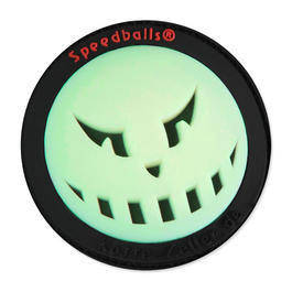 3D Rubber Patch Speedballs schwarz glow nachleuchtend