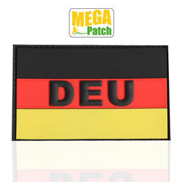 3D Rubber Patch Deutschland DEU fullcolor 8 x 5 cm