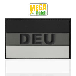 3D Rubber Patch Deutschland DEU subbed grey 8 x 5 cm