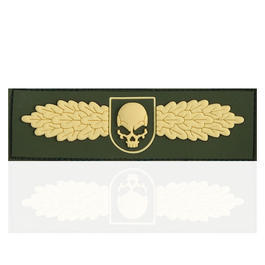 3D Rubber Patch SOF Skull Badge gold