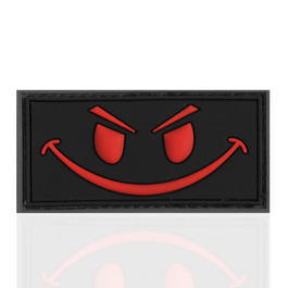 3D Rubber Patch Evil Smiley blackmedic