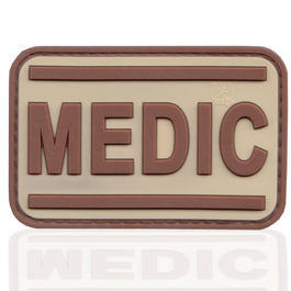 3D Rubber Patch Black Medic desert