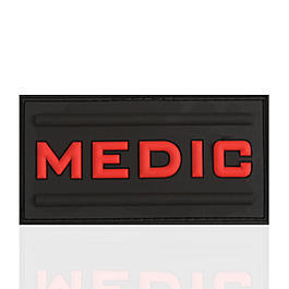 3D Rubber Patch Black Medic blackmedic
