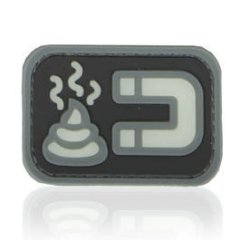 3D Rubber Patch Shit Magnet nachleuchtend