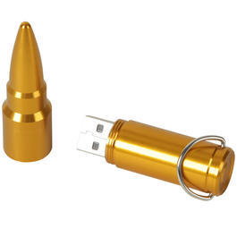 USB Stick Patrone gold 4GB
