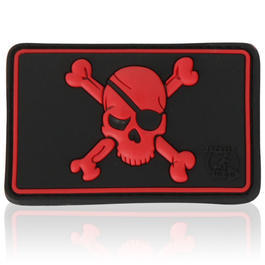 3D Rubber Patch Pirate Skull blackmedic