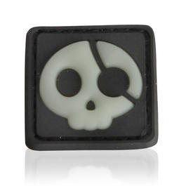 3D Rubber Patch Halloween Pirate schwarz nachleuchtend