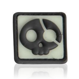 3D Rubber Patch Halloween Pirate nachleuchtend
