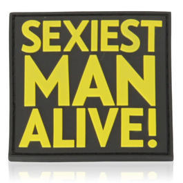 3D Rubber Patch Sexiest Man Alive fullcolor