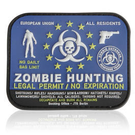 3D Rubber Patch Zombie Hunting