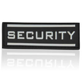 3D Rubber Patch Security klein nachleuchtend