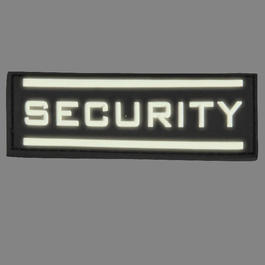 3D Rubber Patch Security gross nachleuchtend