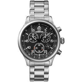 Military Shop - Timex Expedition Field Chronograph Uhr mit Edelstahlband silber