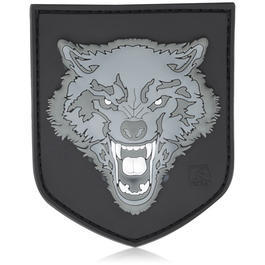 3D Rubber Patch Wolf grau