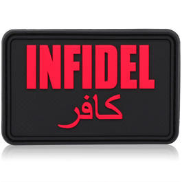 3D Rubber Patch Infidel groß blackmedic