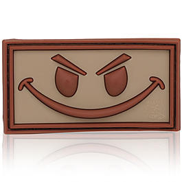 3D Rubber Patch Evil Smiley desert