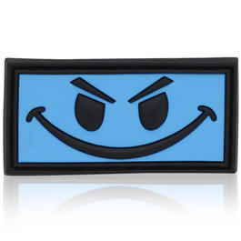 Outdoor Rucksäcke - 3D Rubber Patch Evil Smiley blau