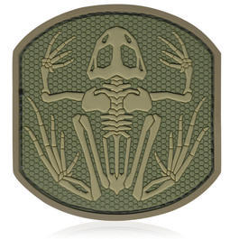 3D Rubber Patch Frog Skeleton multicam