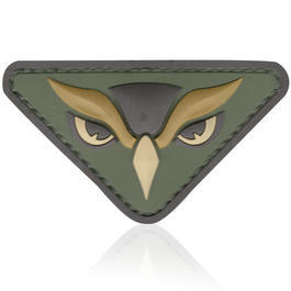 3D Rubber Patch Owl Head multicam