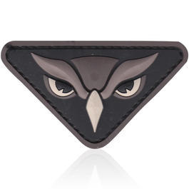 3D Rubber Patch Owl Head swat