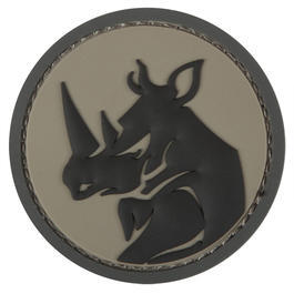 Rucksäcke - Mil-Spec Monkey 3D Rubber Patch Rhino Head ACU
