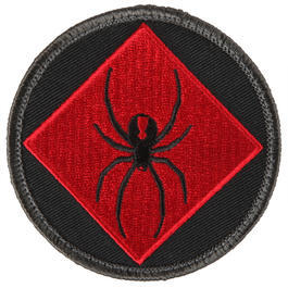 Mil-Spec Monkey Patch RedBlackOne Logo Rot